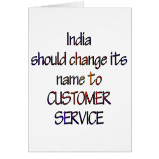 India should change name card