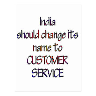 India should change name postcard