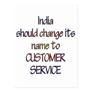 India should change name postcard