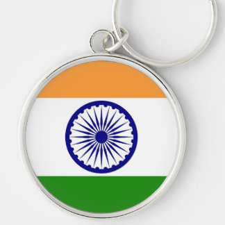 INDIA Silver-Colored ROUND KEYCHAIN