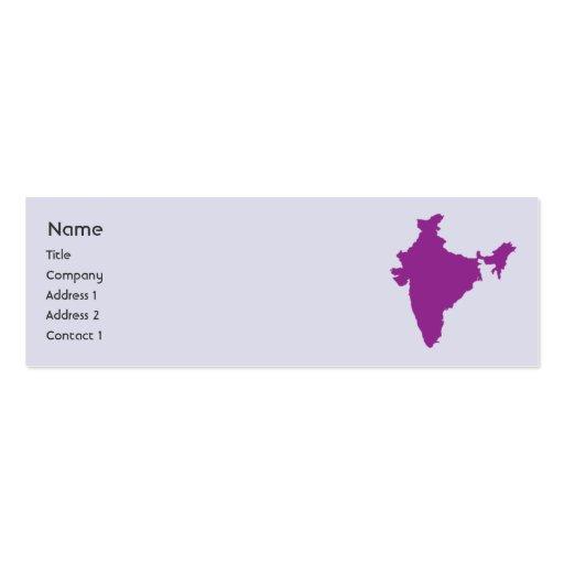 India - Skinny Business Card Template : Zazzle