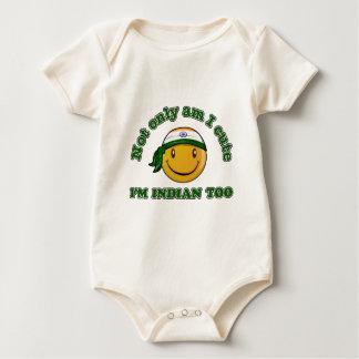 India smiley flag designs baby bodysuit