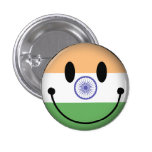 India Smiley Pin