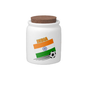 India Soccer Team Candy Jars