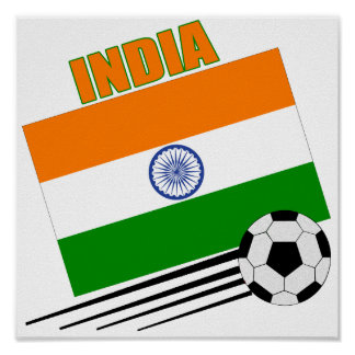 India Soccer Team Poster