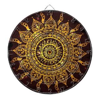 India Solar Motif Sun God Dartboard