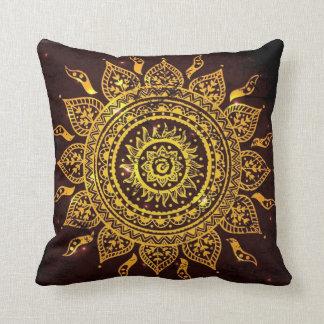 India Solar Motif Sun God Throw Pillow