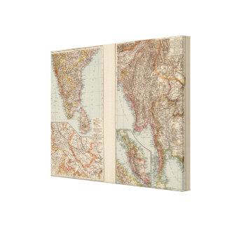 India South, Burma, Malay Peninsula Stretched Canvas Prints