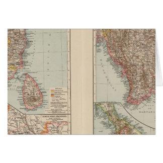 India South, Burma, Malay Peninsula Card