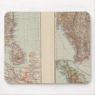 India South, Burma, Malay Peninsula Mouse Pad