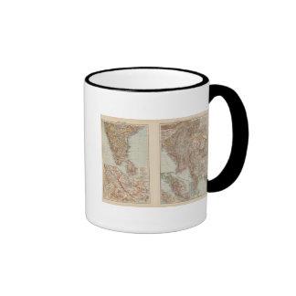 India South, Burma, Malay Peninsula Ringer Coffee Mug