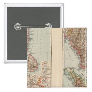India South, Burma, Malay Peninsula Pins