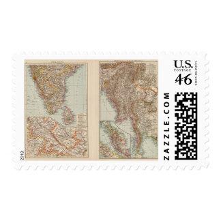India South Burma Malay Peninsula Postage Stamps