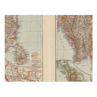 India South, Burma, Malay Peninsula Postcard