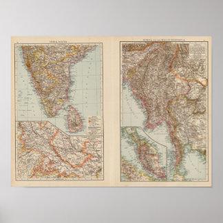 India South, Burma, Malay Peninsula Posters