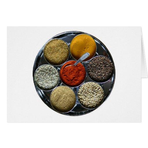 india spice tray card