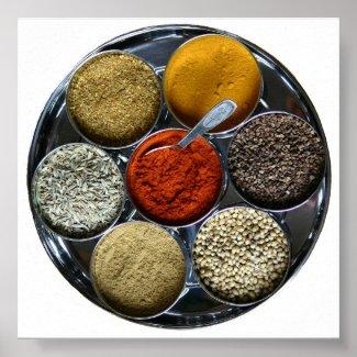 India spice tray print