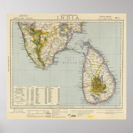 India, Sri Lanka Poster