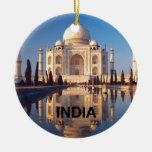 India Taj-mahal angie Double-Sided Ceramic Round Christmas Ornament
