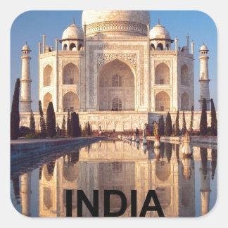 India Taj-mahal angie Square Sticker