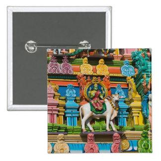 INDIA, Tamil Nadu, Chennai: Kapaleeshwarar 2 Inch Square Button