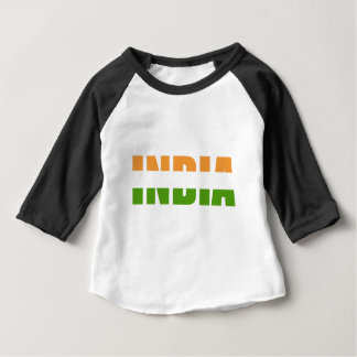INDIA Text Flag Baby T-Shirt