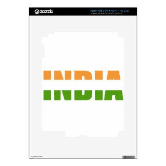 INDIA Text Flag iPad 3 Decal