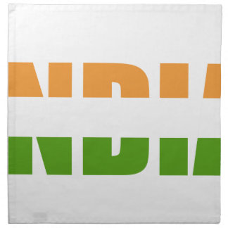 INDIA Text Flag Napkin