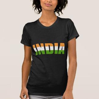 INDIA Text Flag T-Shirt