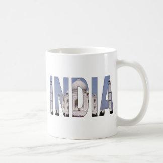 INDIA Text Over Taj Mahal Coffee Mug