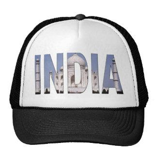 INDIA Text Over Taj Mahal Trucker Hat