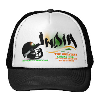 India The Greatest Cricket Nation on Earth Hat