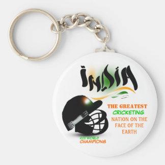 India The Greatest Cricket Nation on Earth Keychai Basic Round Button Keychain