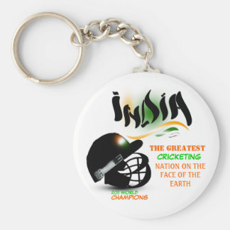 India The Greatest Cricket Nation on Earth Keychai Basic Round Button Keychain