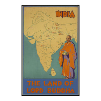India The land of Lord Buddha Poster