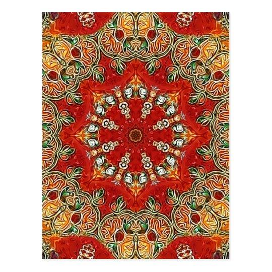 India Tile Mandala Postcard