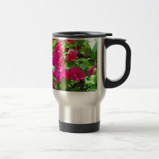 India travel flower bougainvillea floral emblem travel mug