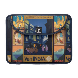 India Travel Poster collage MacBook sleeves