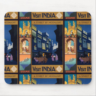 India Travel Poster collage mousepad
