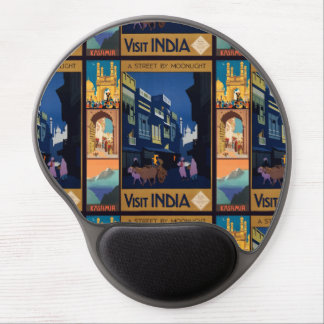 India Travel Poster collage mousepad Gel Mouse Pad