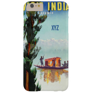 India Travel Poster custom monogram cases Barely There iPhone 6 Plus Case