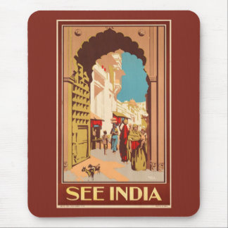 India Travel Poster mousepad