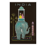 India travel poster vintage