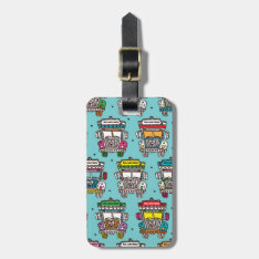India Truck Indian Travel Icons Illustration Luggage Tag at Zazzle