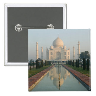INDIA, Uttar Pradesh, Agra: Taj Mahal, Morning 2 Inch Square Button