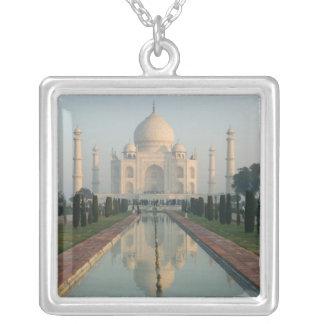 INDIA, Uttar Pradesh, Agra: Taj Mahal, Morning Square Pendant Necklace