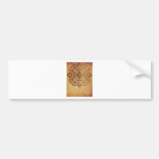India Vintage Bumper Sticker
