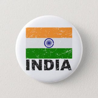 India Vintage Flag Button
