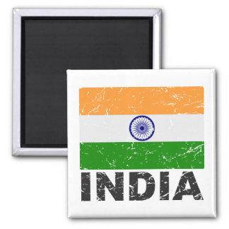 India Vintage Flag Magnet