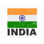 India Vintage Flag Postcard